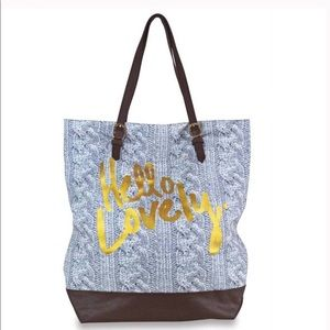 Hello Lovely Canvas Tote Large Durable